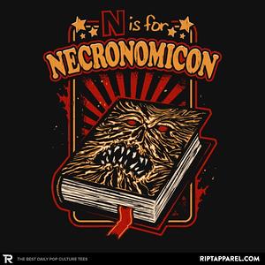 Ript: N is for Necronomicon