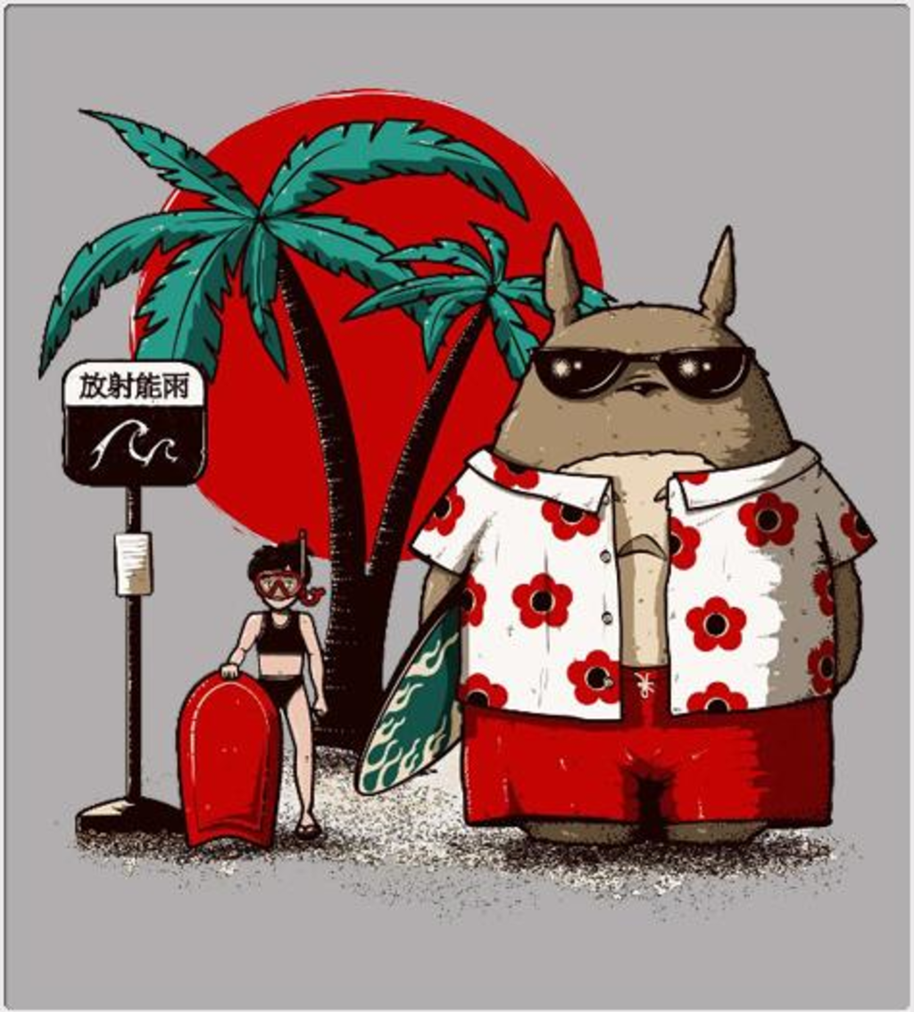 Shirt Battle: Totoro Beach