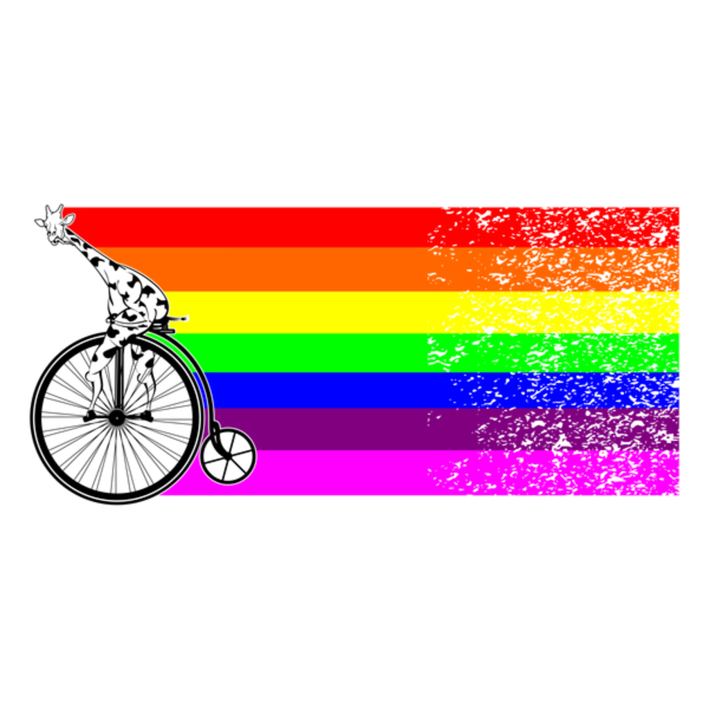 NeatoShop: Giraffe Bicycle Rainbow