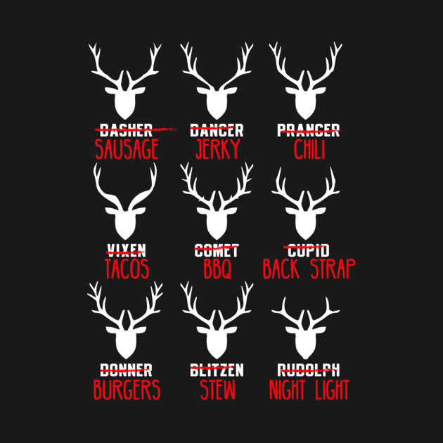 TeePublic: Deer  Hunters All of Santa's Reindeer Tee