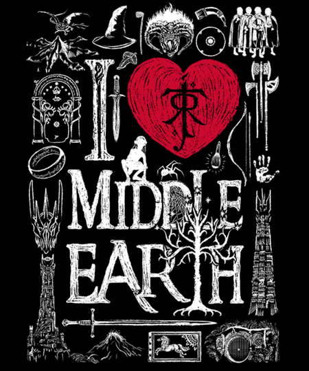 Qwertee: I love Middle Earth