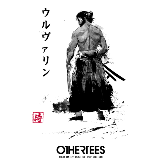 OtherTees: Immortal Samurai Sumi-e