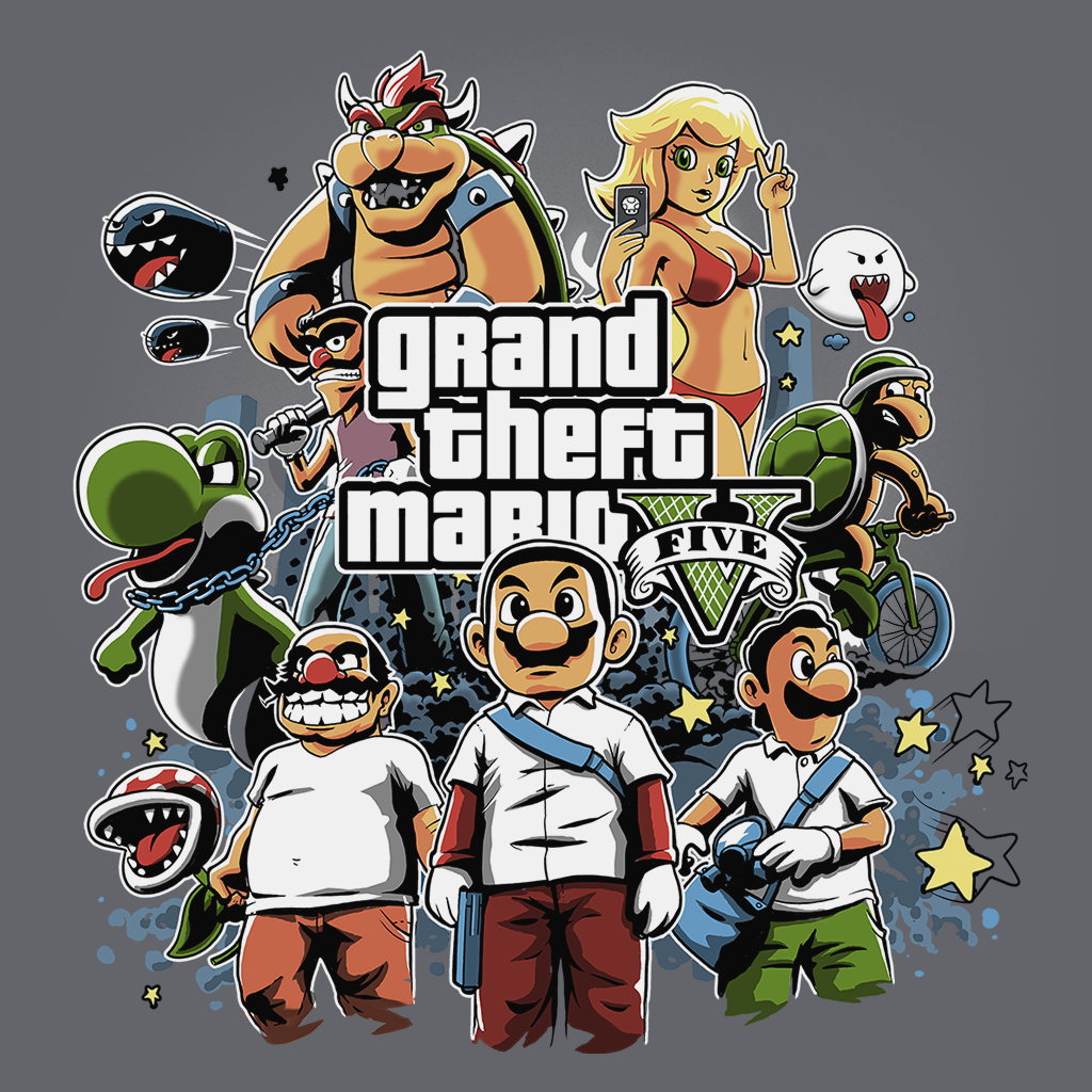 Pop-Up Tee: Grand Theft Mario