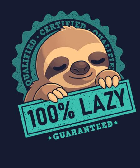 Qwertee: 100% Lazy