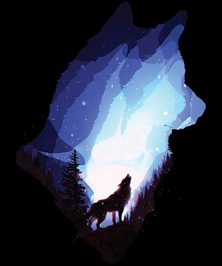 Qwertee: Mystic Wolf