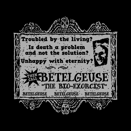 Five Finger Tees: Betelgeuse: Bio-Exorcist T-Shirt
