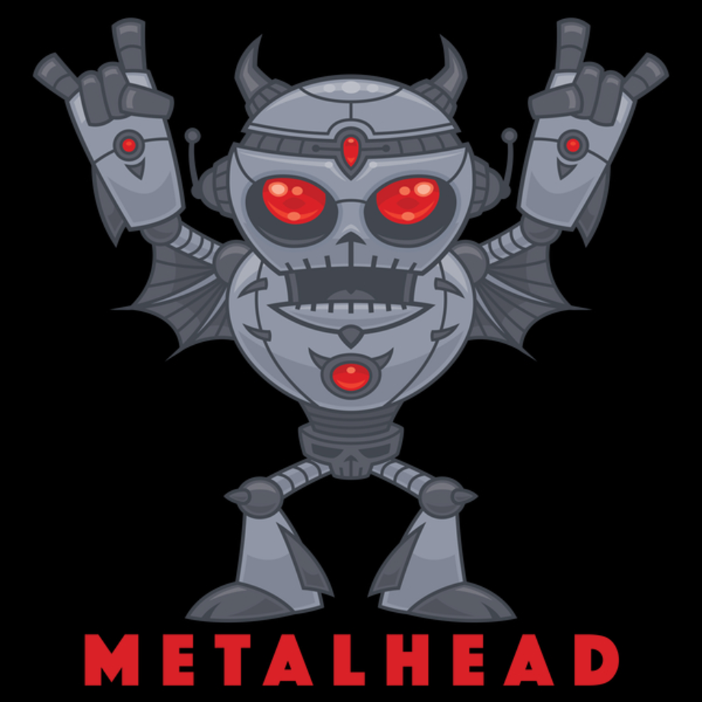 NeatoShop: Metalhead - Heavy Metal Robot Devil - With Text
