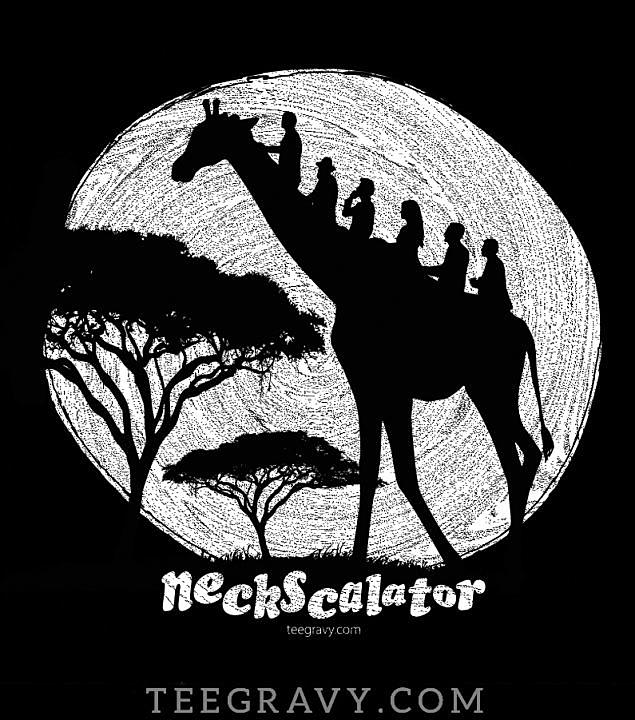 Tee Gravy: The Neckscalator on Black