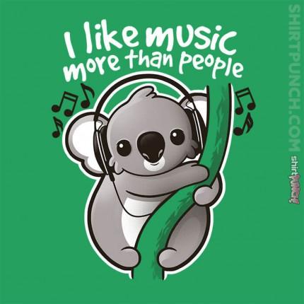 ShirtPunch: Koala Likes Music