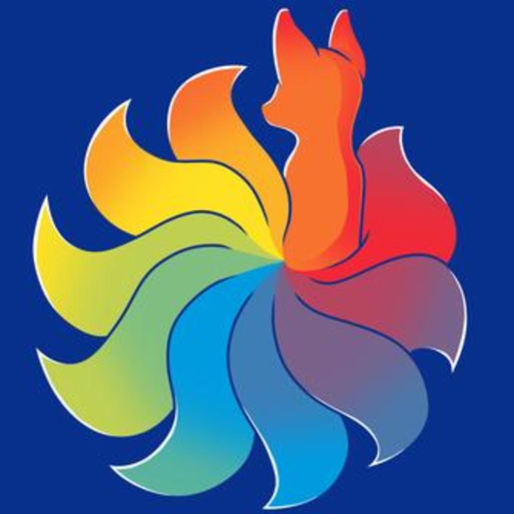 TeeTurtle: Rainbow Kitsune