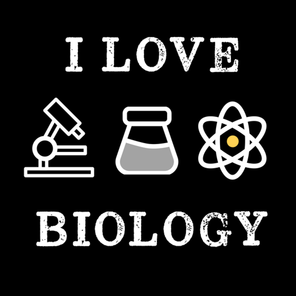 NeatoShop: Microscope I Love Biology Retro Vintage