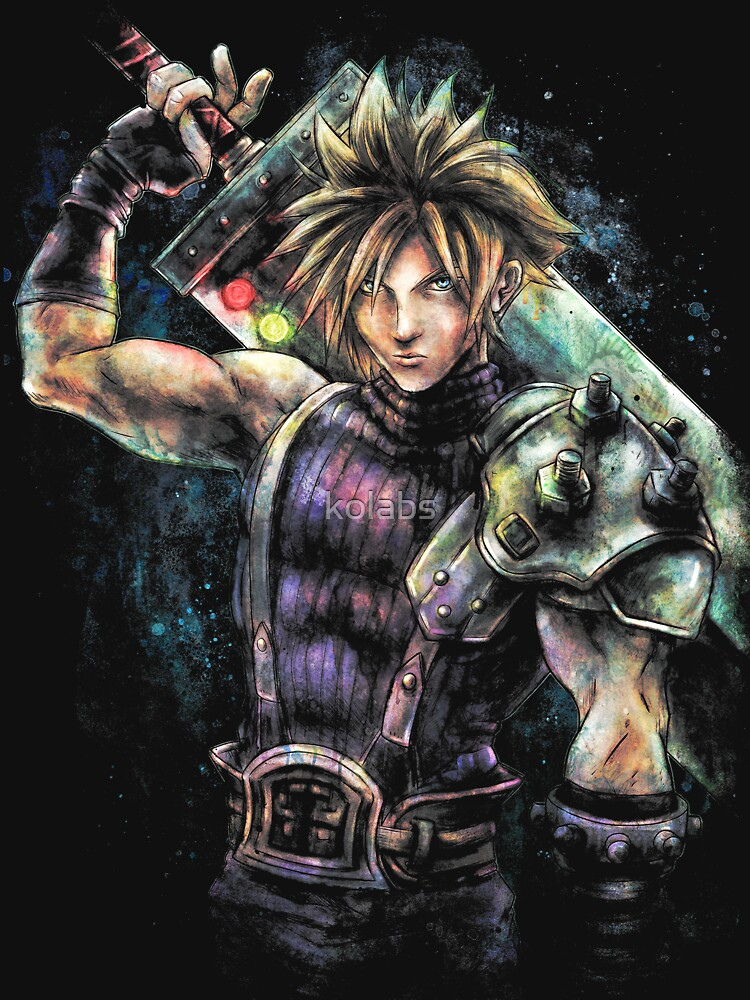 RedBubble: EPIC CLOUD STRIFE FINAL FANTASY VII PORTRAIT