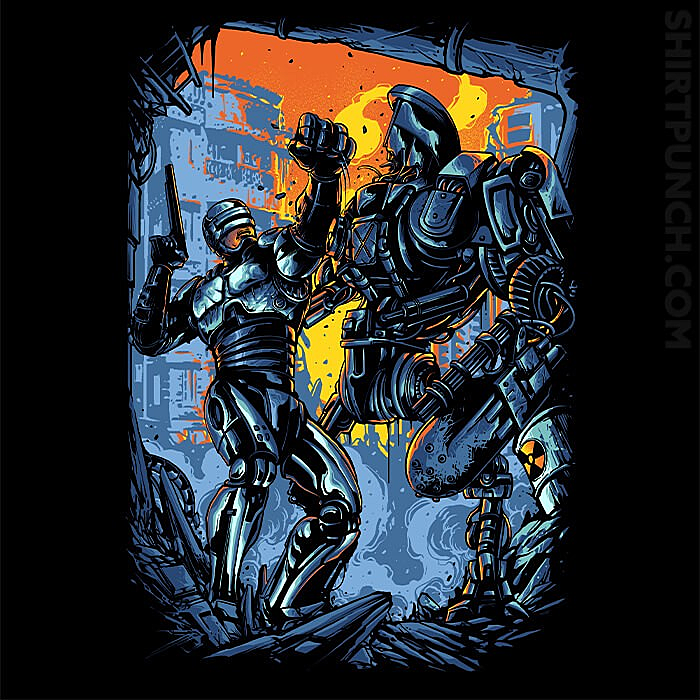 ShirtPunch: Robocop VS Robocain