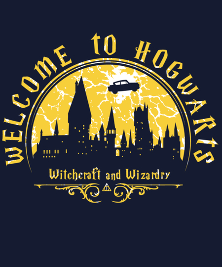 Qwertee: Welcome to Hogwarts