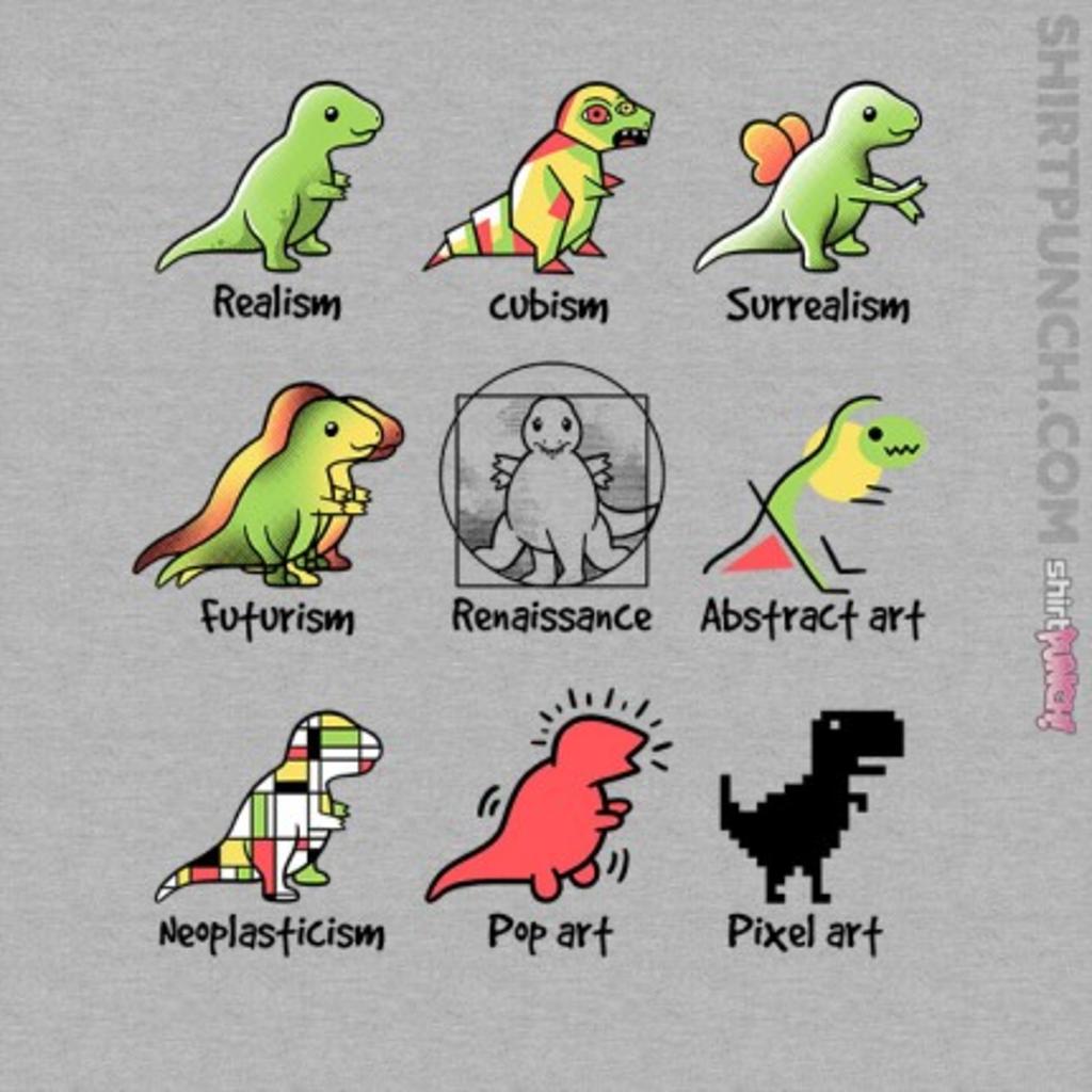 ShirtPunch: T-Rex Art