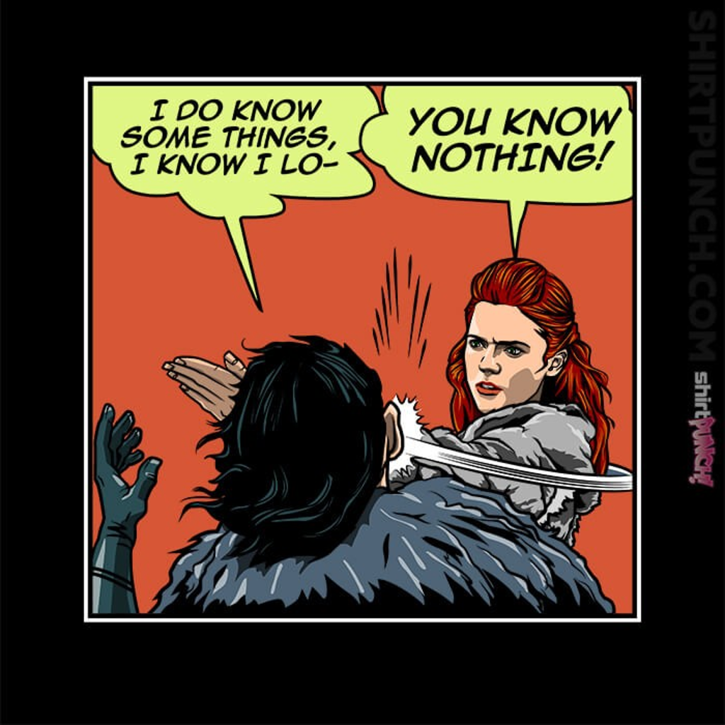 ShirtPunch: I Do Know Some Things