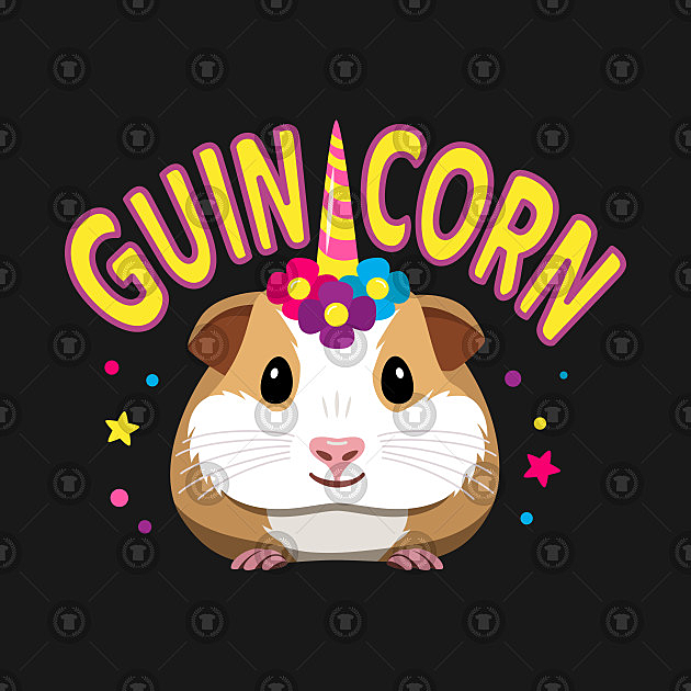 TeePublic: Cute Guinicorn (Guinea Pig Unicorn Hybrid)