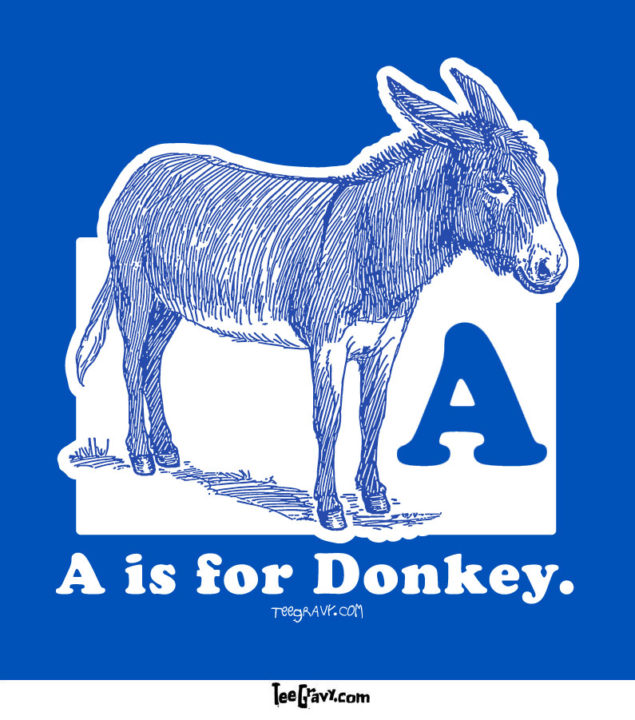 Tee Gravy: Donkey in Blue or Return of Ass