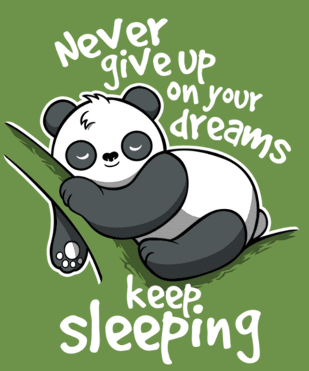 Qwertee: Panda keep sleeping