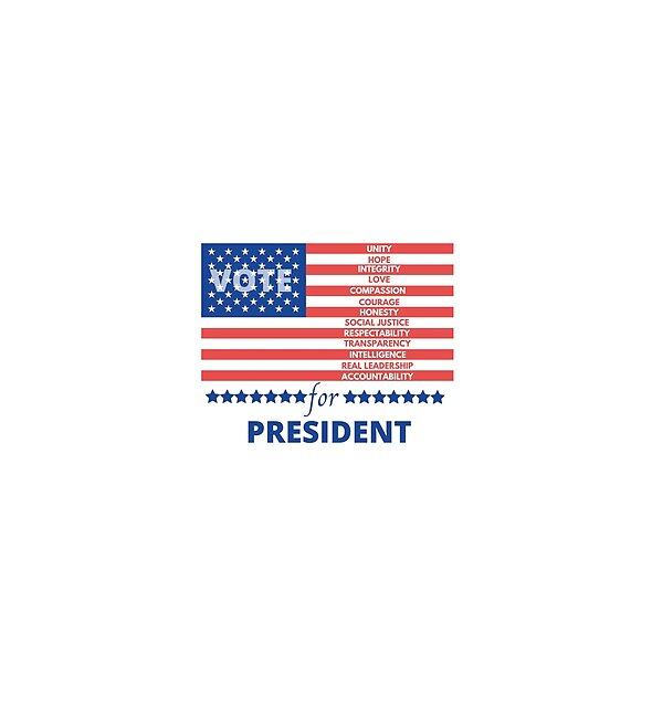 RedBubble: QUALITY FOR PRESIDENT