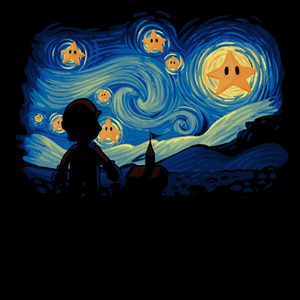 Pop-Up Tee: Super Starry Night