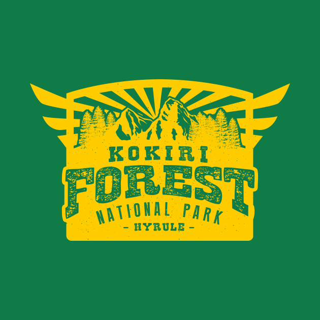 TeePublic: kokiri forest national park