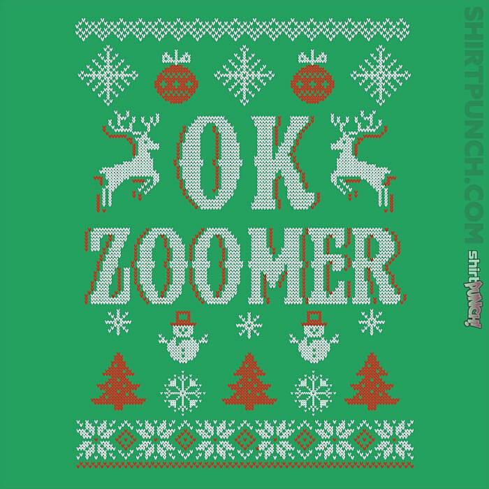 ShirtPunch: OK Zoomer Ugly Christmas Sweater