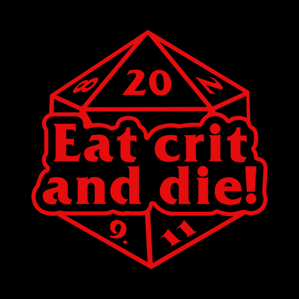 NeatoShop: Eat crit and die! (red)