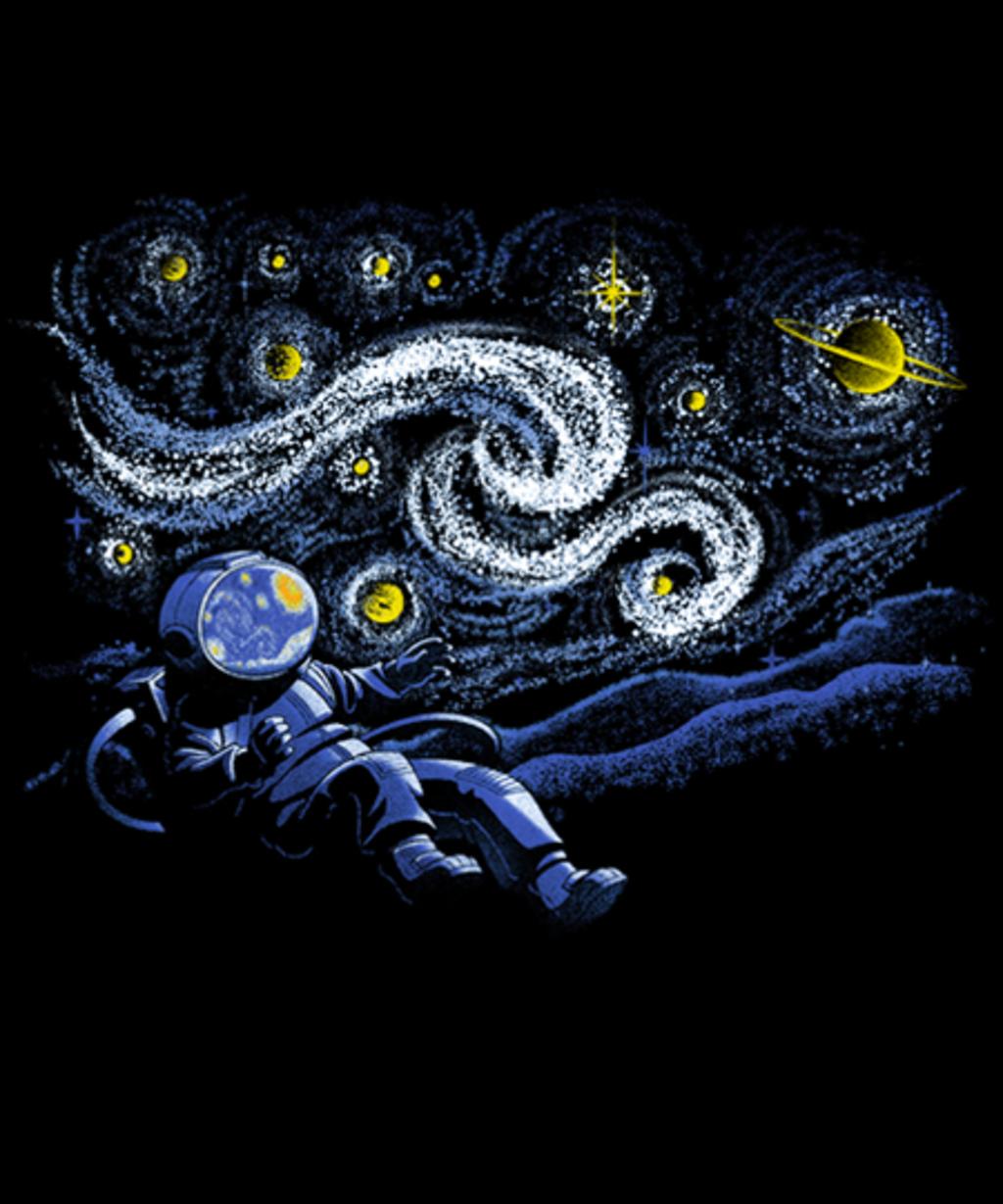 Qwertee: Starry Night Gravity