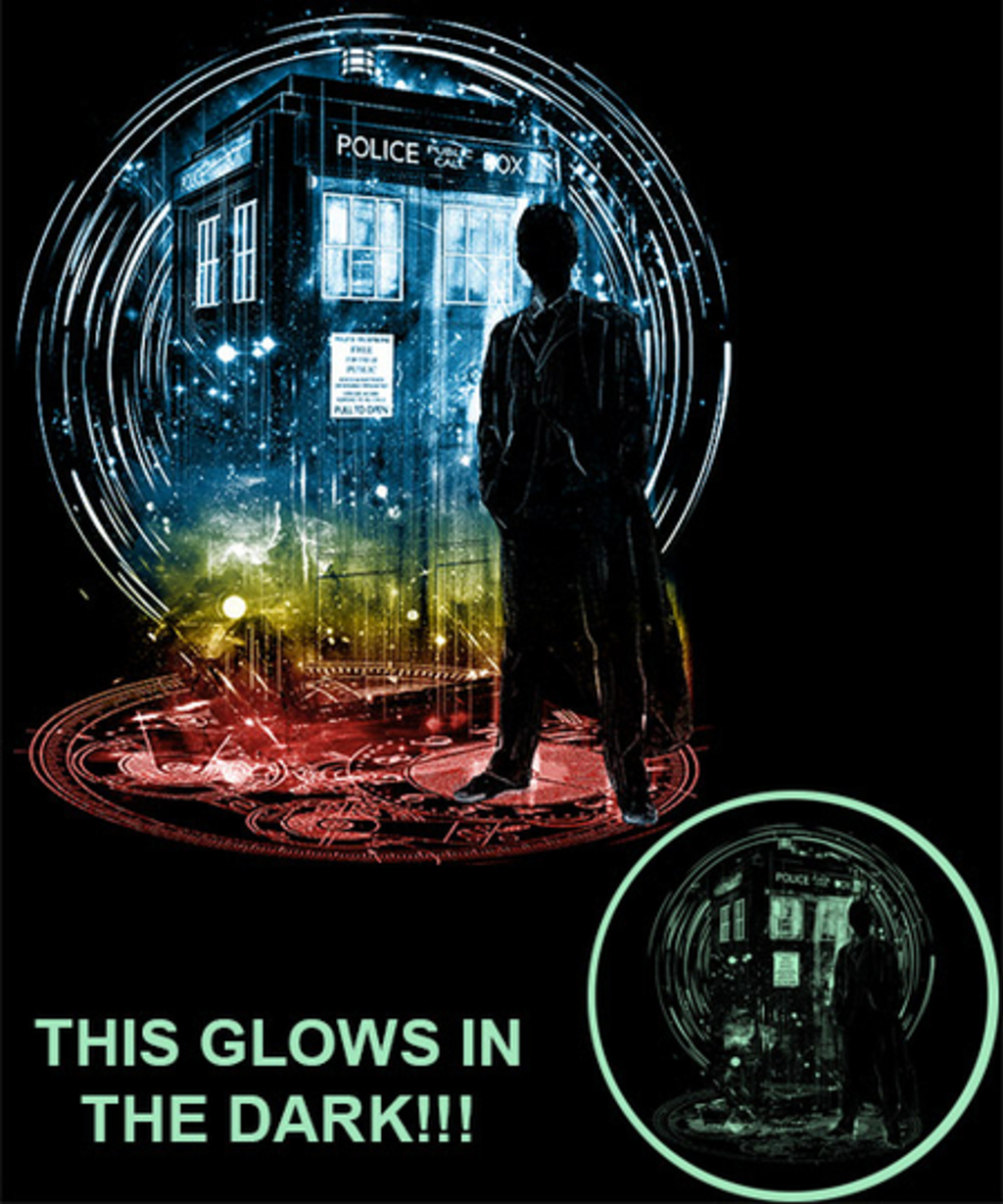 Qwertee: 10th time storm -glow in the dark