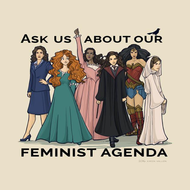 TeePublic: Feminist Agenda T-Shirt