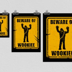 Woot!: Beware of Wookiee Poster