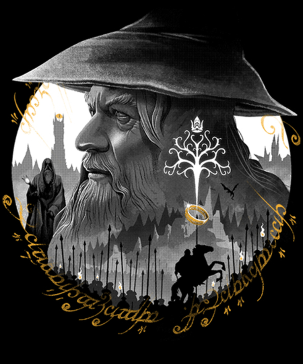 Qwertee: The Grey Wizard
