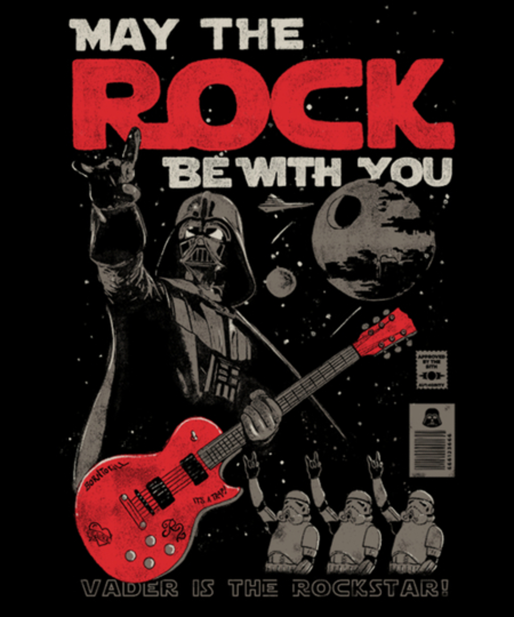 Qwertee: May the Rock Be With You