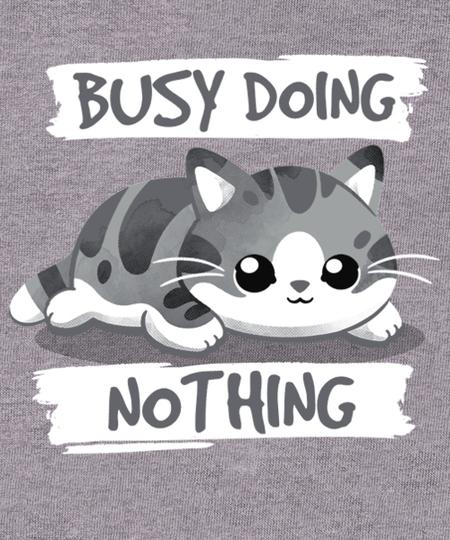 Qwertee: Cat busy