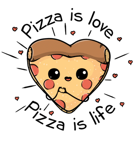 Qwertee: Pizza is love Pizza is life