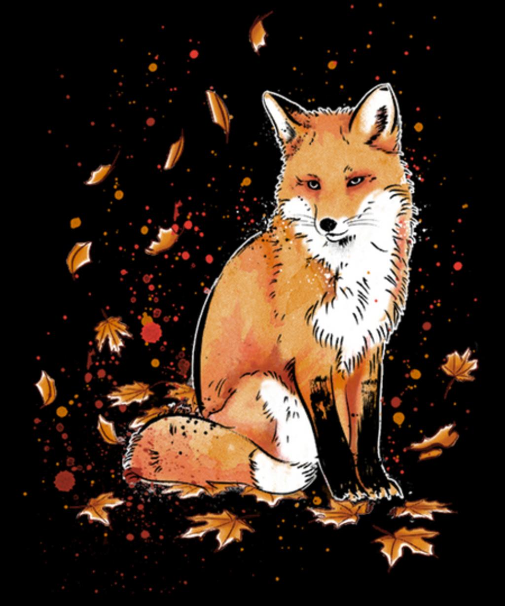 Qwertee: Fox in the Night