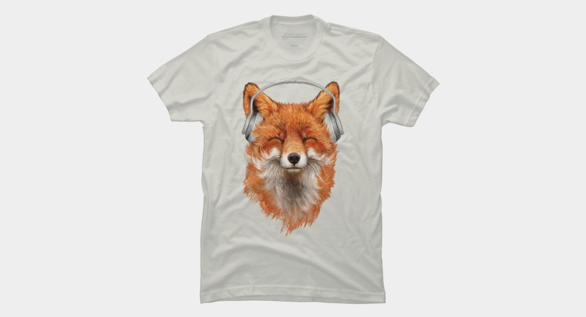 Design by Humans: Smiling Musical Fox
