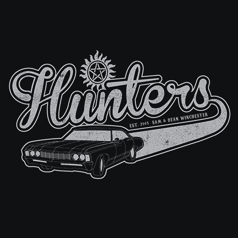 Textual Tees: Supernatural Hunters