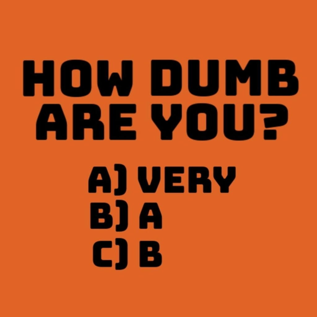 BustedTees: How dumb are you?