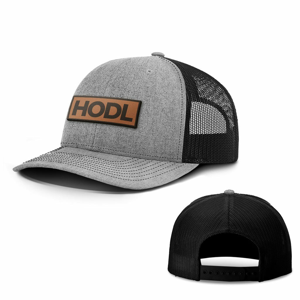 BustedTees: HODL Leather Patch Hats