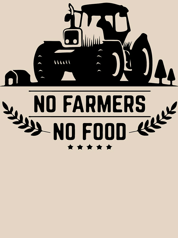 RedBubble: support punjabi farmers shirt outfit - no farmers no food shirt outfit.
