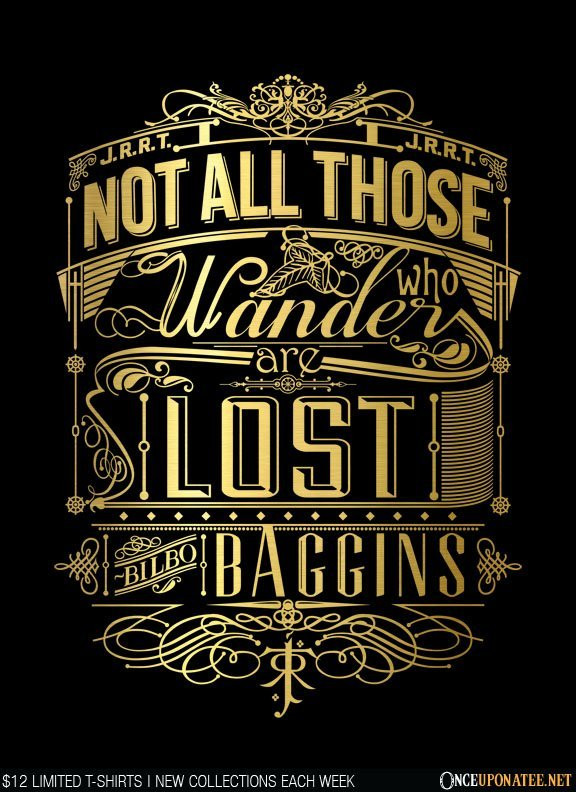 Once Upon a Tee: Tolkien Typography