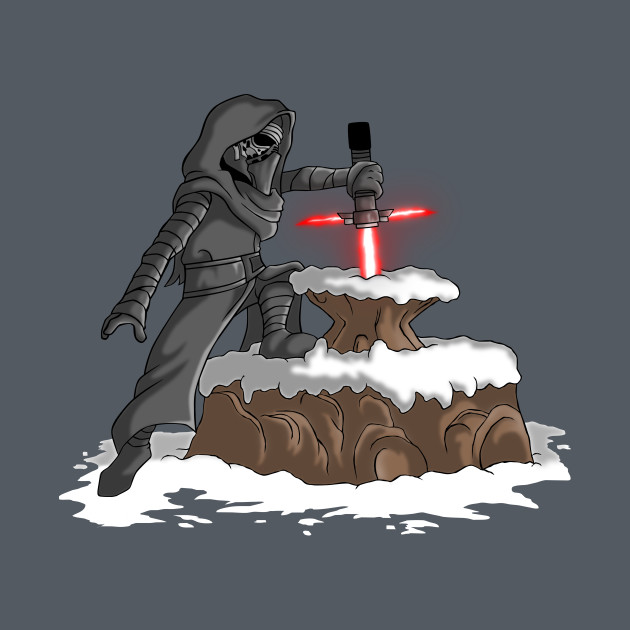 TeePublic: The Lightsaber in the Stone