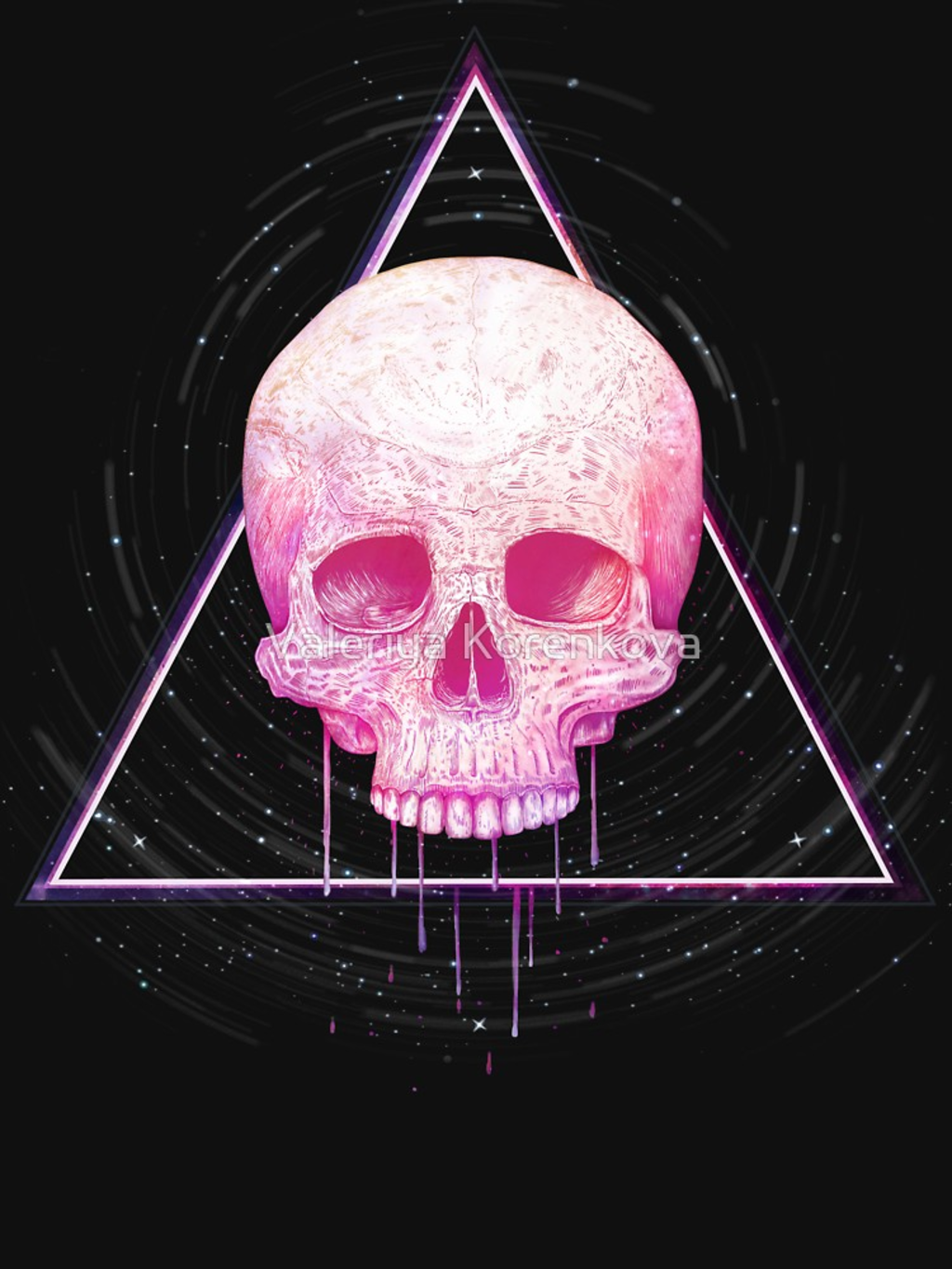 RedBubble: Skull in triangle on black
