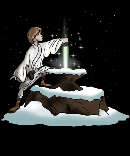 Qwertee: Lightsaber in the stone