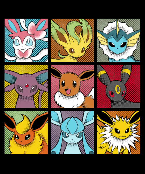 Qwertee: Pop Eeveelutions