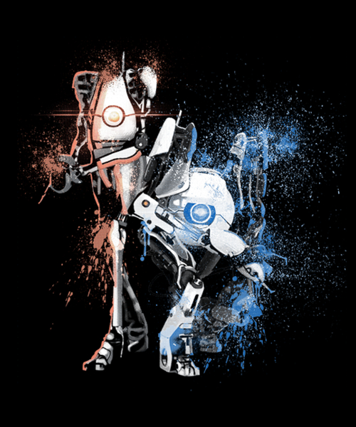 Qwertee: Orange & Blue