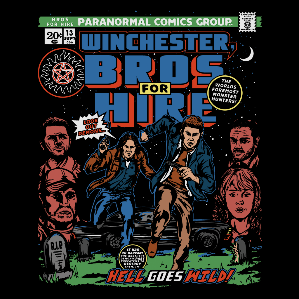 Pop-Up Tee: Bros 4 Hire