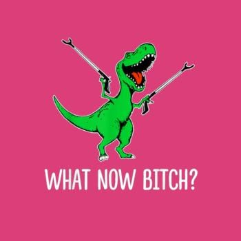 BustedTees: What Now Bitch Funny T-Rex